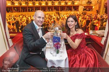 Opernball 2020 - Wiener Staatsoper - Do 20.02.2020 - Klemens JOOS mit Ehefrau Manuela282