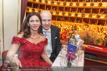 Opernball 2020 - Wiener Staatsoper - Do 20.02.2020 - Klemens JOOS mit Ehefrau Manuela284
