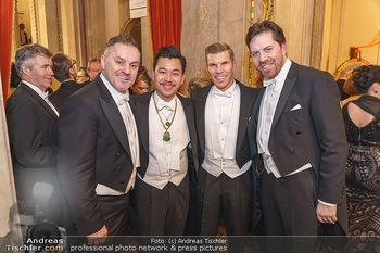 Opernball 2020 - Wiener Staatsoper - Do 20.02.2020 - Klaus PANHOLZER, Daniel SERAFIN, Martin HO, Florian GSCHWANDTNER334