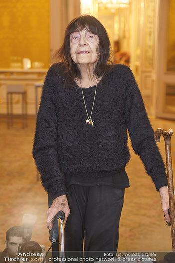 Ausstellungseröffnung Michael Horowitz - Albertina, Wien - Do 27.02.2020 - Friederike MAYRÖCKER (Portrait)22