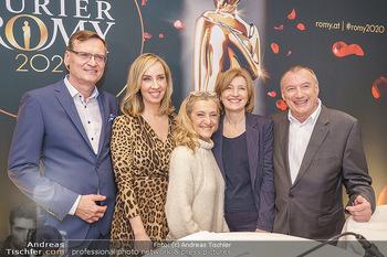 Pressekonferenz zur Romy Gala 2020 - Grand Hotel, Wien - Di 03.03.2020 - Thomas KRALINGER, Nadja BERNHARD, Kathrin ZECHNER, Martina SALOM1