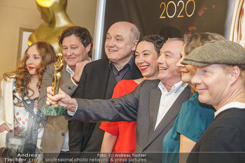 Pressekonferenz zur Romy Gala 2020 - Grand Hotel, Wien - Di 03.03.2020 - Harald WINDISCH, Brigitte HOBMEIER, Ursula STRAUSS, Rudi JOHN23