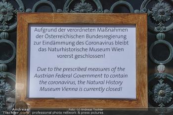 Coronavirus COVID-19 Feautre - Wien - Do 12.03.2020 - Naturhistorisches Museum Wien (NHM) - geschlossen wegen Coronavi28