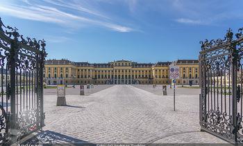 Corona Lokalaugenschein - Wien - Mo 16.03.2020 - Schloss Schönbrunn menschenleer Park ausgestorben wegen Coronav3
