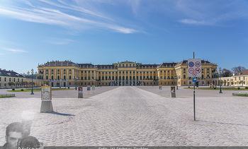 Corona Lokalaugenschein - Wien - Mo 16.03.2020 - Schloss Schönbrunn menschenleer Park ausgestorben wegen Coronav5