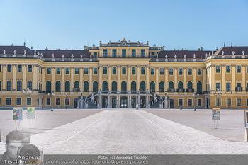 Corona Lokalaugenschein - Wien - Mo 16.03.2020 - Schloss Schönbrunn menschenleer Park ausgestorben wegen Coronav6