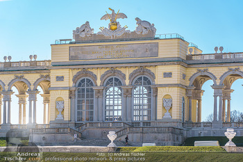 Corona Lokalaugenschein - Wien - Mo 16.03.2020 - Gloriette im Schloss Schönbrunn Park, menschenleer Coronavirus 16