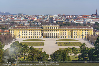 Corona Lokalaugenschein - Wien - Mo 16.03.2020 - Schloss Schönbrunn menschenleer Park ausgestorben wegen Coronav20