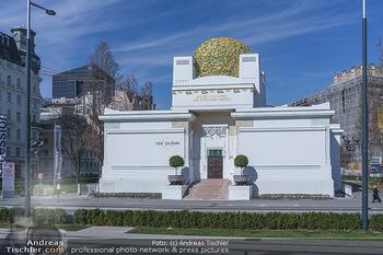 Corona Lokalaugenschein - Wien - Mo 16.03.2020 - Secession Secessionsgebäude Wien menschenleer wegen Coronavirus29