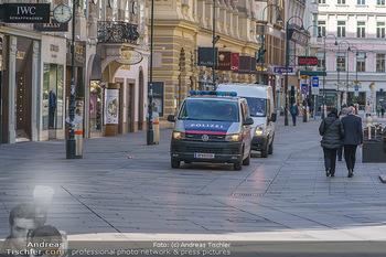 Corona Lokalaugenschein - Wien - Mo 16.03.2020 - Polizeikontrolle in der Wiener Innenstadt, Am Graben, Stephanspl39