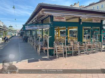 Corona Lokalaugenschein - Wien - Mo 16.03.2020 - geschlossene Lokale Geschäfte Restaurants am Wiener Naschmarkt 60