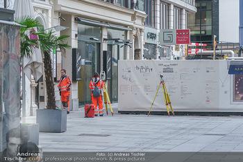 Corona Lokalaugenschein - Wien - Di 17.03.2020 - Einzelne Berufsgruppen müssen arbeiten, Vermessung, Baubranche,47