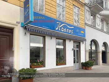 Corona Lokalaugenschein - Wien - Di 17.03.2020 - Griechisches Restaurant Kostas geschlossen wegen Coronavirus, Ga80