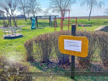Corona Feature - Wien - Do 19.03.2020 - Spielplätze und Parks geschlossen wegen Coronavirus bei Frühli6