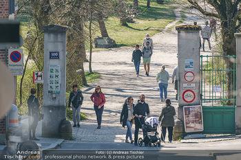 Corona Feature - Wien, NÖ - So 05.04.2020 - Großer Andrang Spaziergänger Jogger Läufer Coronavirus Ausgan17