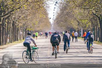 Corona Feature - Wien, NÖ - So 05.04.2020 - Großer Andrang Spaziergänger Jogger Läufer Radfahrer Coronavi24