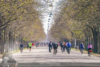 Corona Feature - Wien, NÖ - So 05.04.2020 - Großer Andrang Spaziergänger Jogger Läufer Radfahrer Coronavi31