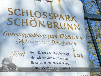 Corona Feature - Wien, NÖ - So 05.04.2020 - Schlosspark Schönbrunn geschlossen gesperrten Bundesgarten Bund52