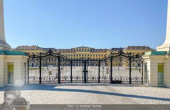 Corona Feature - Wien, NÖ - So 05.04.2020 - Schlosspark Schönbrunn geschlossen gesperrten Bundesgarten Bund56