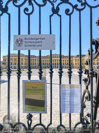 Corona Feature - Wien, NÖ - So 05.04.2020 - Schlosspark Schönbrunn geschlossen gesperrten Bundesgarten Bund60
