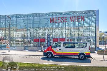 Corona Feature - Wien, NÖ - So 05.04.2020 - Messe Wien Messehalle Notquartier Bettenlagen für Coronavirus C101