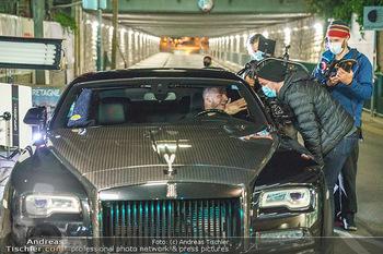 Marko Arnautovic Dreharbeiten - Wien - Mi 27.05.2020 - Marko ARNAUTOVIC am Steuer seines eigenen Bentley Mansory50