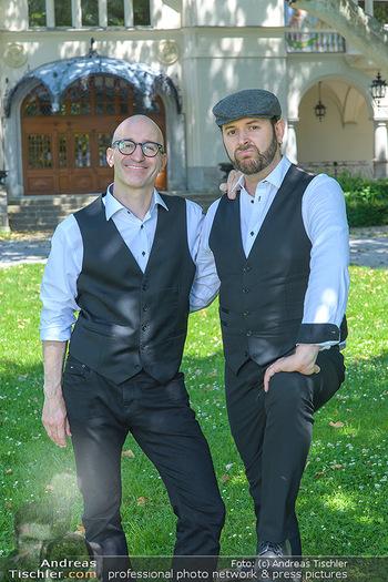 Werbeshooting für Festspielprogramm - Theaterpark Berndorf - Sa 13.06.2020 - Robert KOLAR, Helmut (Helmuth) Thomas STIPPICH73