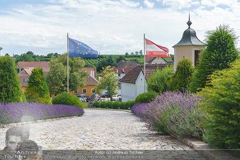 Ein fest für Dominique Meyer - Schloss Gobelsburg, NÖ - Mi 01.07.2020 - EU-Flagge der Europäischen Union und Österreich Fahne17