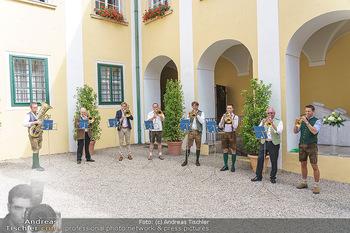 Ein fest für Dominique Meyer - Schloss Gobelsburg, NÖ - Mi 01.07.2020 - Musikkapelle spielt Volksmusik im Schlosshof, Trompeten, Posaune29