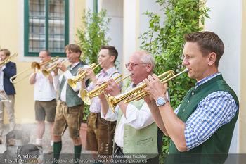 Ein fest für Dominique Meyer - Schloss Gobelsburg, NÖ - Mi 01.07.2020 - Musikkapelle spielt Volksmusik im Schlosshof, Trompeten, Posaune30