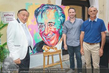 Lugner Gemälde - Galerie Steiner - Do 23.07.2020 - Richard LUGNER und Künstler David und Harald MOSER (Moser&Moser24