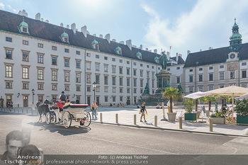 Lugner Gemälde - Galerie Steiner - Do 23.07.2020 - Touristen auf Fiaker in Wien30