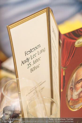 Andy Lee Lang Geburtstag - Marchfelderhof - Mo 27.07.2020 - falsch beschriftete Tischkarte Menükarte (25 statt 35 Jahresfei85
