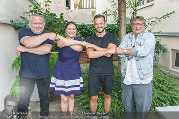 Interviewtermin Seberg und Prokopetz - Agentur Sobieszek, Wien - Mi 29.07.2020 - Gregor SEBERG, Jan FRANKL, Joesi PROKOPETZ, Julia SOBIESZEK2