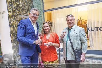 Sommerfest - Atil Kutoglu Boutique - Do 30.07.2020 - Wolfgang MEILINGER, Franz WECHNER mit Tochter Tamara19