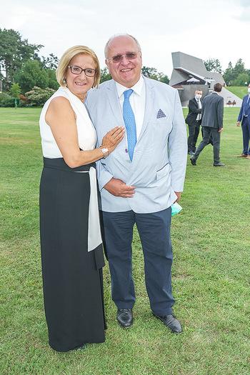 Festspiel Premiere - Grafenegg - Fr 14.08.2020 - Johanna MIKL-LEITNER mit Ehemann Andreas60