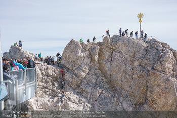 200 Jahre Erstbesteigung - Zugspitze - Do 27.08.2020 - Alle wollen tw. in Halbschuhen zum Gipfelkreuz, Massenandrang am21