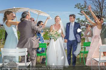 Hochzeit Martin und Gloria Traxl - Purbach, Burgenland - Sa 05.09.2020 - Joji HATTORI mit Ehefrau Sabine, Martin und Gloria TRAXL5