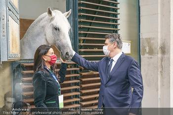 Austrian World Summit 2020 - Stallburg und Hofreitschule - Do 17.09.2020 - Zoran MILANOVIC, Sonja KLIMA mit Lipizzaner Pferd65