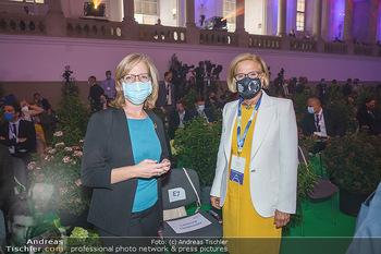 Austrian World Summit 2020 - Stallburg und Hofreitschule - Do 17.09.2020 - Leonore GEWESSLER, Johanna MIKL-LEITNER mit Maske91
