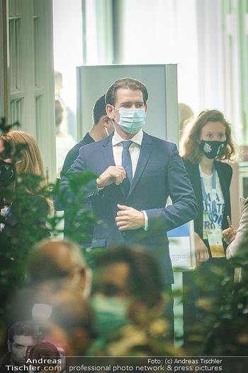 Austrian World Summit 2020 - Stallburg und Hofreitschule - Do 17.09.2020 - Sebastian KURZ mit Corona Schutzmaske MNS Maske107