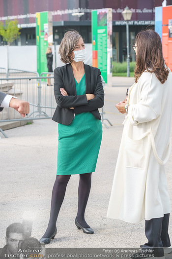 Climate Kirtag - Heldenplatz - Do 17.09.2020 - Birgit HEBEIN mit Corona Schutzmaske63