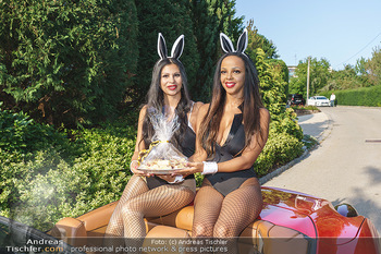 Lugner Reunion Feier - Lugner Privatvilla - Di 22.09.2020 - Tierchen Nina Bambi BRUCKNER und Bahati Colibri Venus im Ferrari39