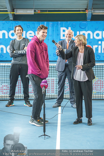 Dominic Thiem eröffnet ATC Akademie - Tennishalle Traiskirchen - Do 22.10.2020 - Wolfgang und Dominic THIEM, Manfred AINEDTER, Barbara MUHR22