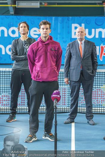 Dominic Thiem eröffnet ATC Akademie - Tennishalle Traiskirchen - Do 22.10.2020 - Wolfgang und Dominic THIEM, Manfred AINEDTER24
