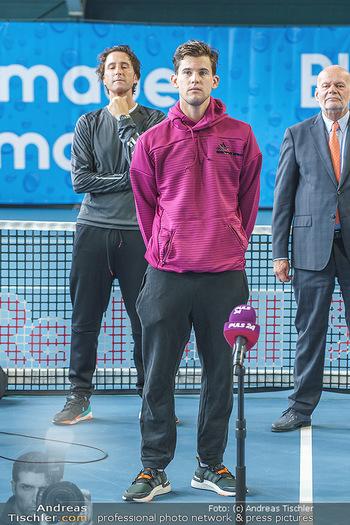 Dominic Thiem eröffnet ATC Akademie - Tennishalle Traiskirchen - Do 22.10.2020 - Dominic THIEM mit Vater Wolfgang THIEM25