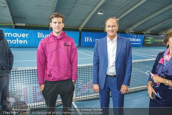 Dominic Thiem eröffnet ATC Akademie - Tennishalle Traiskirchen - Do 22.10.2020 - Dominic THIEM, Ernst MINAR31