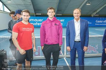 Dominic Thiem eröffnet ATC Akademie - Tennishalle Traiskirchen - Do 22.10.2020 - Dominic THIEM, Ernst MINAR, Fabian KITZWEGER32