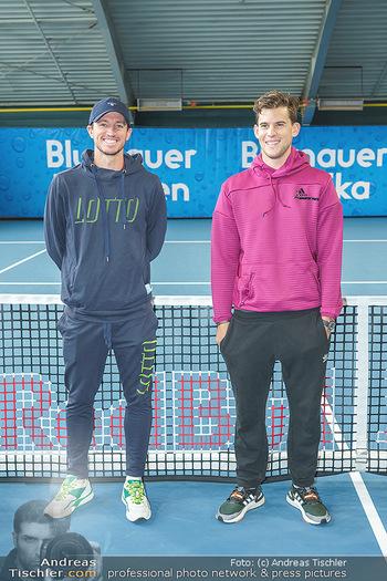 Dominic Thiem eröffnet ATC Akademie - Tennishalle Traiskirchen - Do 22.10.2020 - Dominic THIEM, Dennis NOVAK33