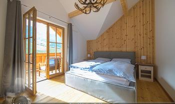 Neue Chalets am Schneeberg - Puchberg am Schneeberg - Fr 23.10.2020 - gemütliches Schlafzimmer, Holz, Wärme, Betten, hell13
